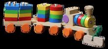 Wooden Train Blocks