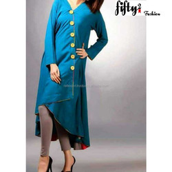 Blue New Unique Fashionable Style Kurti Collection 2015 For Girls