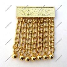 Masonic Apron Chain Tassels Gold Finish | Pair of Gold Masonic Apron Tassel Bars |