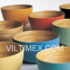 Multi Coloured Recycled Bamboo Bowl