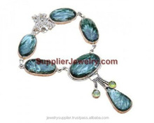 Real Blue Chalcedony Jewels