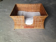Pretty small bamboo pet cage, cat and dog home