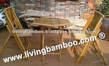 jardín de bambú hexagonal muebles de jardín