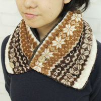 Fashionable soft neck warmer men scarf made of high-density fiber