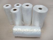 HDPE flat bag on roll for food plastic bag