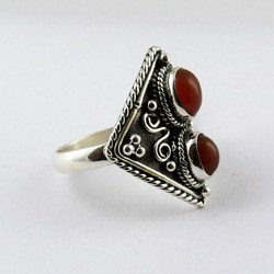 Love Declared !! Carneline 925 Sterling Silver Ring Size-9.0 US, Indian Fashion Silver Jewelry, Exporter And Wholesaler