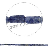 6x12x4mm Rectangle Natural Blue Spot Stone Beads