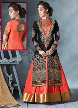 Fascinating Black Embroidered Designer Anarkali Suits New Dress