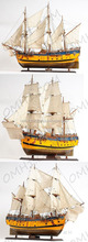 HMS Endeavour Painted High quality Wooden Model Historic Ships