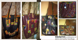 African Leather and Fabric Bag