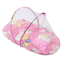 Baby Infant Folding Type Mosquito Crib Net High Quality Portable Cute Travel Bed Tents Cotton Mattress