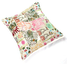 Indian vintage mirror Embroidery Cushion Cover Decor Pillow Case handmade sm14