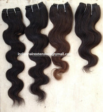 Hot selling Unprocessed cheap Raw Indian hair Extension body wave, Uni-directional virgin hair extension