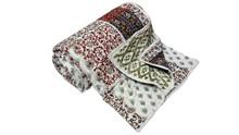 RTHKQ-4 Pathwork Hand Block Printed Cotton Kantha Quilt Jaipuri Razai Manufacturers