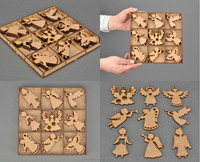 DIY wooden craft shapes of angels for decor