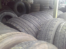 Used Truck Tyres Grade A, 70-90 tread