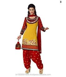 Ladies Punjabi Suit \ Women's Chanderi Salwar Suit