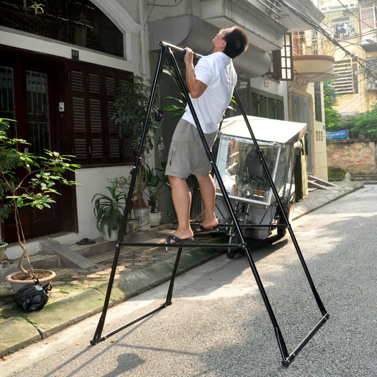 Gym Body Building Equipment Home Portable Folding Horizontal Bar ...