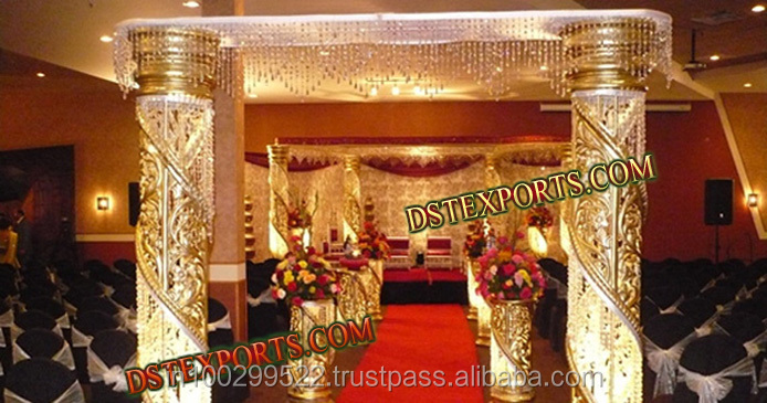 WEDDING GOLDEN FIBER CRYSTAL GATE