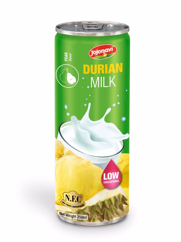 Durian milk with Pear flavour Fruit juice Distributor JOJONAVI brand alu can 250ml.jpg