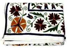 RTHBC-10 Prismatic Modernistic Floral Uzbekistan Suzani Embroidery Designs queen size Cotton bed covers Wholesale Manufacturers