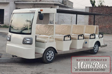 Electric Shuttle Mini Bus - Indian 14 seater battery operated Bus