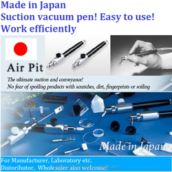 Japan made High quality Push & release suction pencil type tweezer with various attachments for multi funciotnal work
