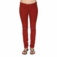 Popular Custom made women cotton spandex jeans
