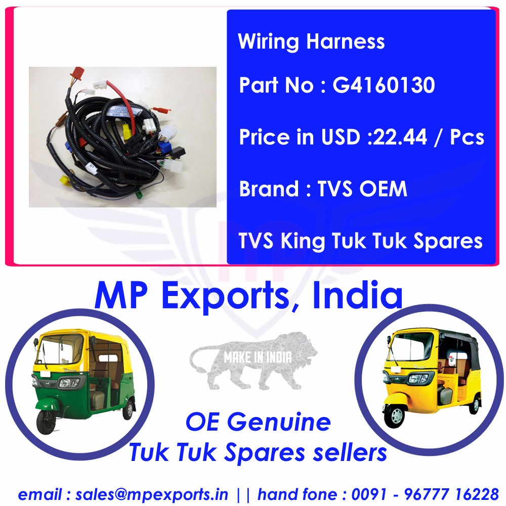 Tvs King Tuk Spare Parts Wiring Harness Buy Genuine A India Ape Piaggio Auto