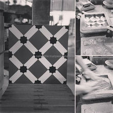 Floor tiles, made by hand. Made in Vietnam