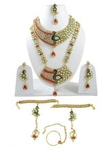 Wedding Bridal Set Gold Plated Indian Jewelry Bollywood Kundan Jewelry Sets -BNS6823