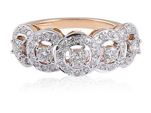 FINE JEWELERY !! PRETTY 0.77 CTS NATURAL DIAMONDS RING IN SOLID BIS HALLMARK 14KT YELLOW GOLD