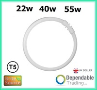 BRITE SOURCE 4 PIN CIRCULAR LAMP T5 FLUORESCENT TUBE Cool White 4000k 22w 40w 55w