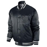Custom Made Plain Satin College Varsity Jacket/ Letterman Varsity Jacket / Baseball Varsity Jack