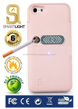 Pink case for iPhone 4/4S with ecological cigarette lighter