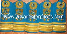 Bullion wire Hand Embroidred Badges Shoulder Fringe Epaullette Uniform Rank Mark