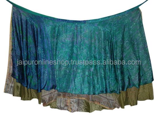 Handmade Vintage Silk Magic Reversible Sarong Pareo Wrap