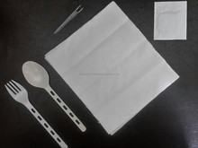 5 in 1 Single-use Disposable Plastic Cutlery Set Airplane ,restaurants,hotels and cafe