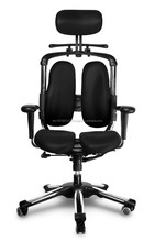 NEW HARA CHAIR, pressure relief of the intervertebral discs and improved buttock circulation. Model: Nietzsche, Color: Black
