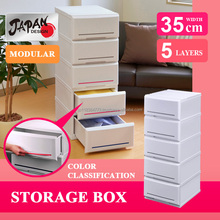 Modular kitchen cabinet 35cm Japan made modular kitchen living bath room closet storage mini storage box Interior chest P3505