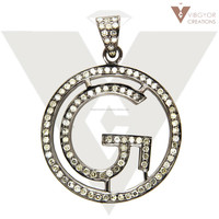 Silver Letter Pendant Alphabet G 2015 New Designs Diamond Pave Silver Pendant Wholesale In India
