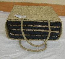 Eco-friendly, traditional, seagrass seat cushion, natural straw seat cushion, nice design, made in Vietnam set of 5