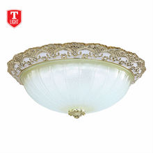 2014 hot sell high quality E27 base round glass light cover Ceiling Light