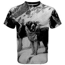 The Dog At The Mountain Design Sublimation T Shirt