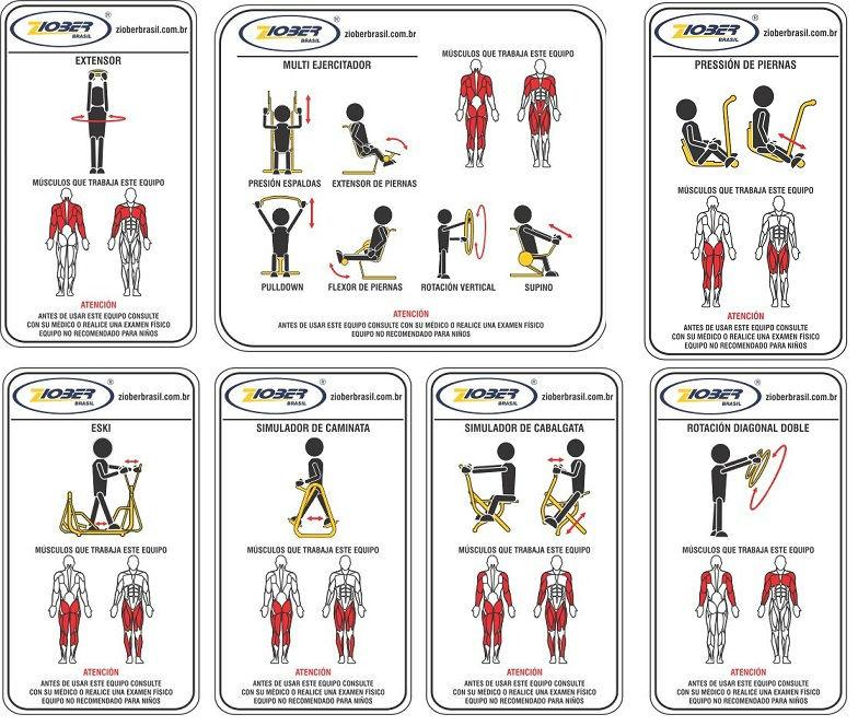 Multi ejercitador 6 funciones equipo de gimnasio al aire for Gimnasio 6 y 45