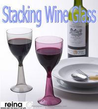 Table wares Plastic Wine glass Stackable and unbreakable good outside use
