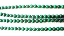 Natural Malachite 6mm Round Plain Loose Beads Strand