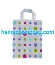 OEM Loop Handle Bag Custom Printed Soft Loop Handle Plastic Carrier in Vietnam