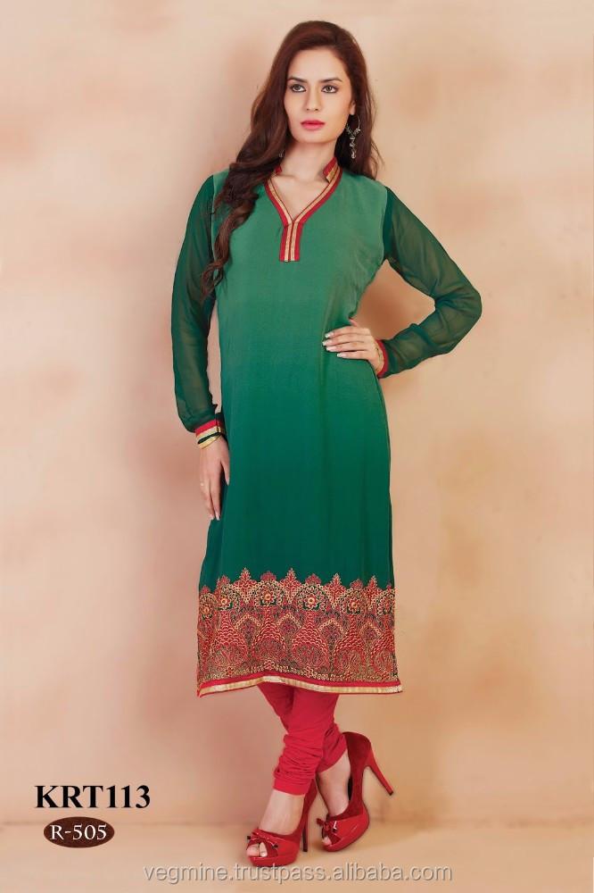Stand Collar Neck Designs For Kurtis : Collar neck designs kurtis indian wholesale buy