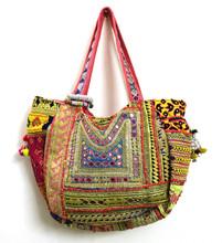 Indian bolsa banjara Vintage asas tradicionales bolsas étnicos tribales bordado